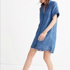 Madewell Denim Drop-hem Shirtdress